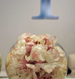 "8"" bubble ball with pink hydrangeas"