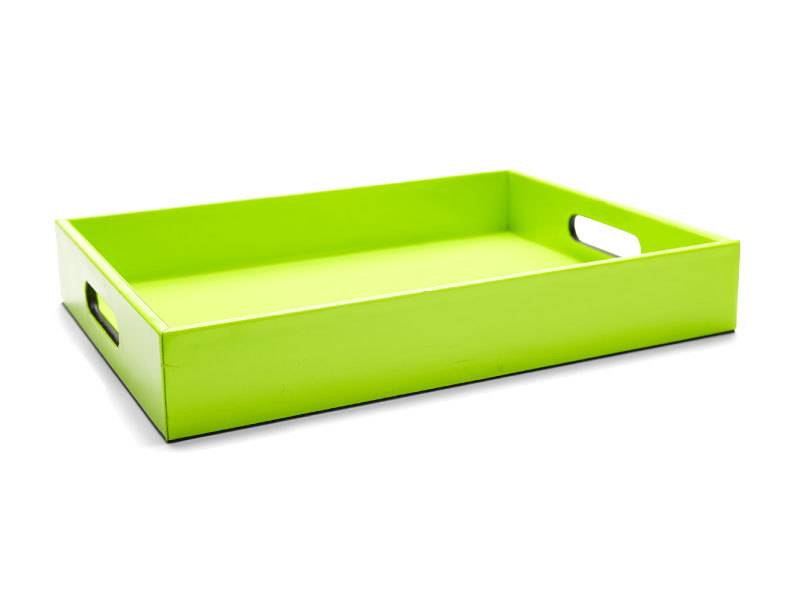 Harman Green Faux Leather Serving Tray