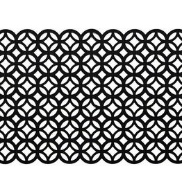 Harman Circles Laser Cut Black Placemat
