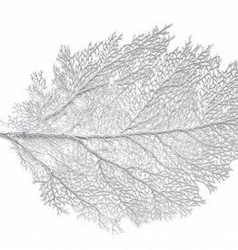 Harman Metallic Leaf Silver Lg Placemat
