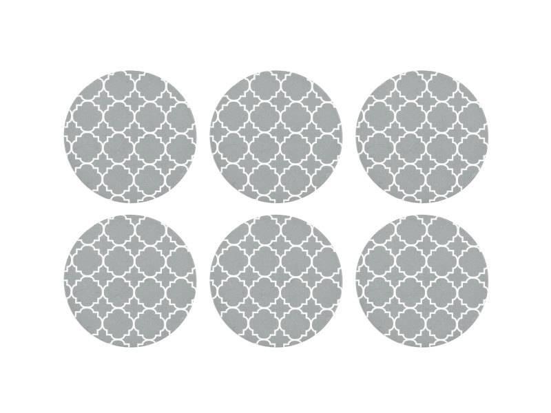 Harman Panama Tile Grey Coasters set of 6