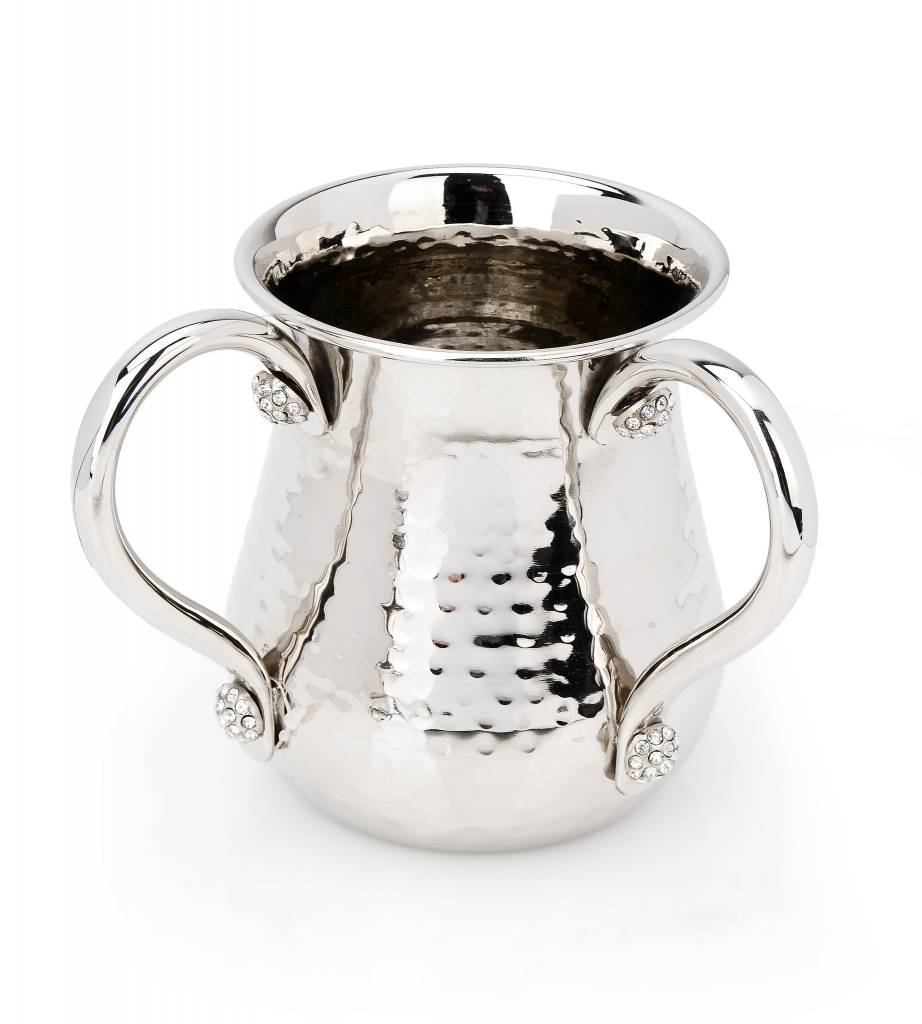 Hammered Washing cup W Jeweled Silver