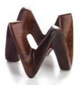 bodrum Crown Teak Napkin Rings Set of 4