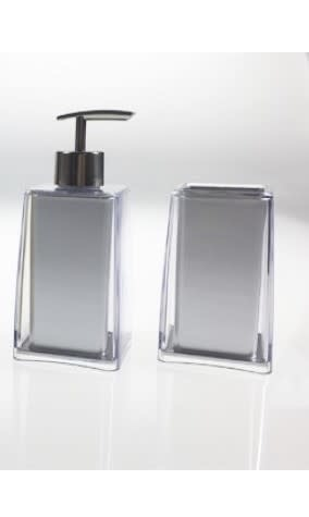 Silver Acrylic Soap Dispenser