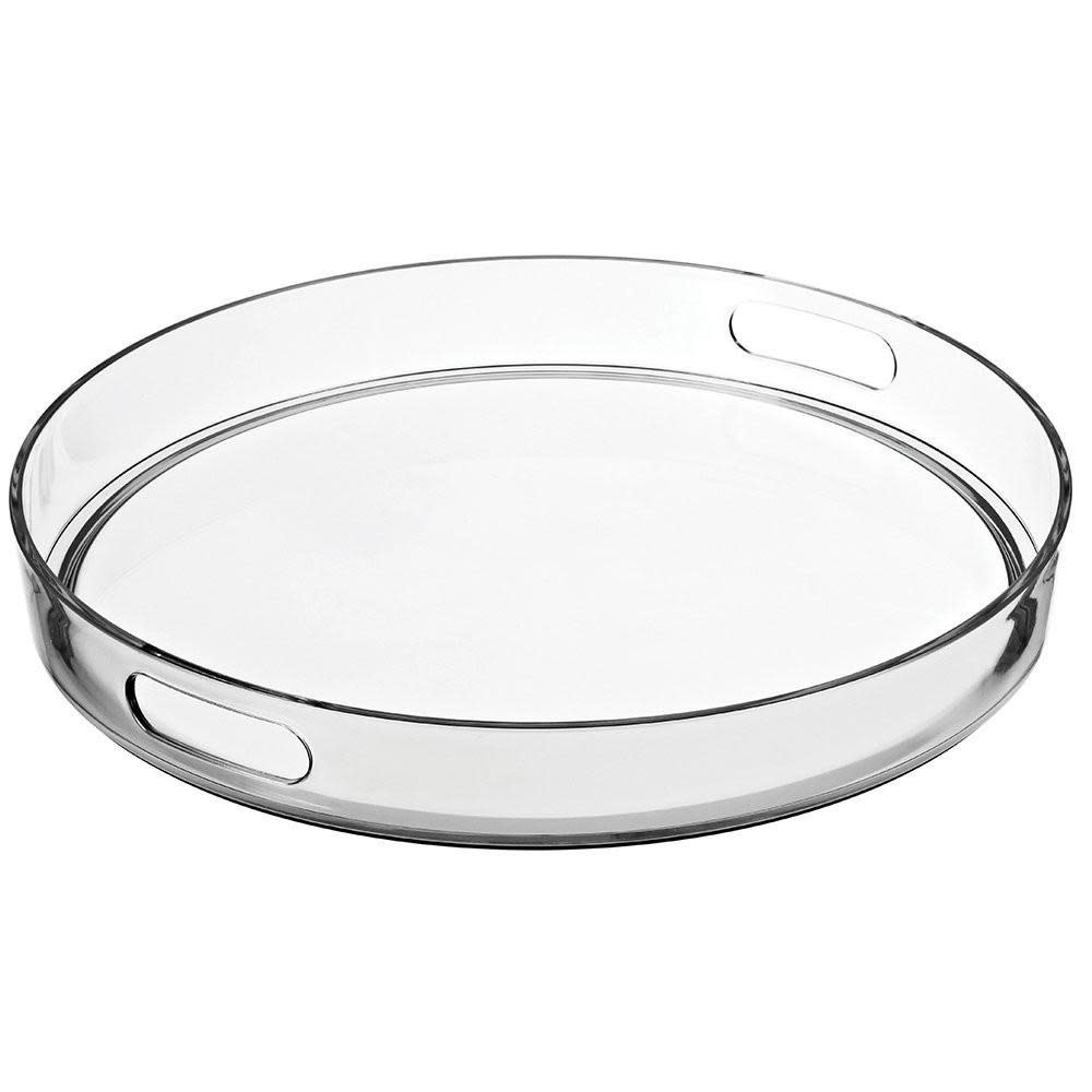 15'' Round Acrylic Tray w Handles