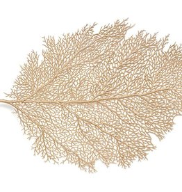 Harman Metallic Leaf Gold Lg Placemat