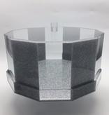 Hexagon Silver Glitter Cake Dome