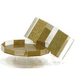 Hexagon Gold Glitter Cake Dome
