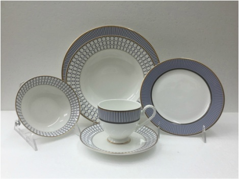 Concerto Blue 57 pc Dinnerware Set