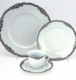 Scallop silver 98 pc Dinnerware Set