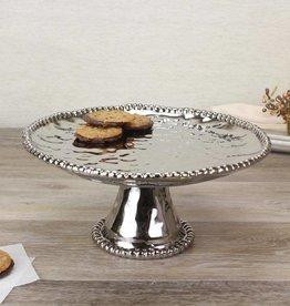 Ceramic Beaded Round Cake Stand