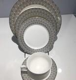 Deco Silver 20 pc Dinnerware set