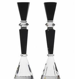 Godinger Essex black candlesticks