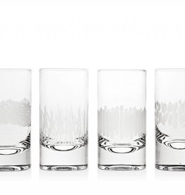Godinger Silver Art Co Galleria Higball Glasses set of 4