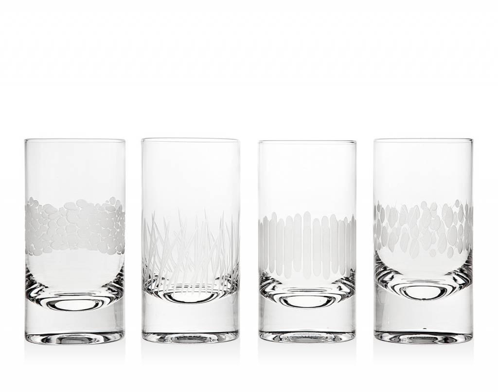 Godinger Silver Art Co Galleria Higball Glasses set of 4