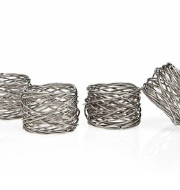 Godinger Mesh Napkin Rings Set of 4