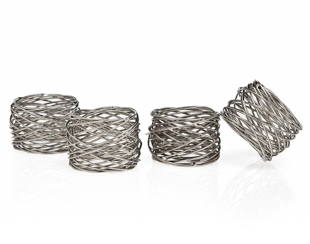 Godinger Silver Art Co Mesh Napkin Rings Set of 4