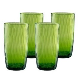 Artland Pebble Highball Lime set of 4