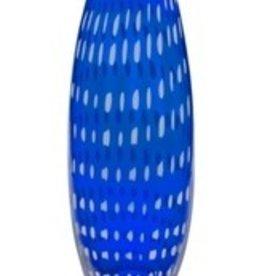 White Cobalt Large Glass Vase