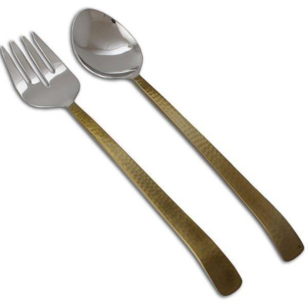 Bent Gold Serving Set