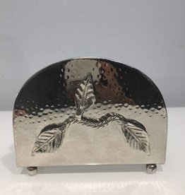 Silver leaf Napkin Holder