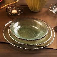 Annie Glass Edgey Dinner plate platinum