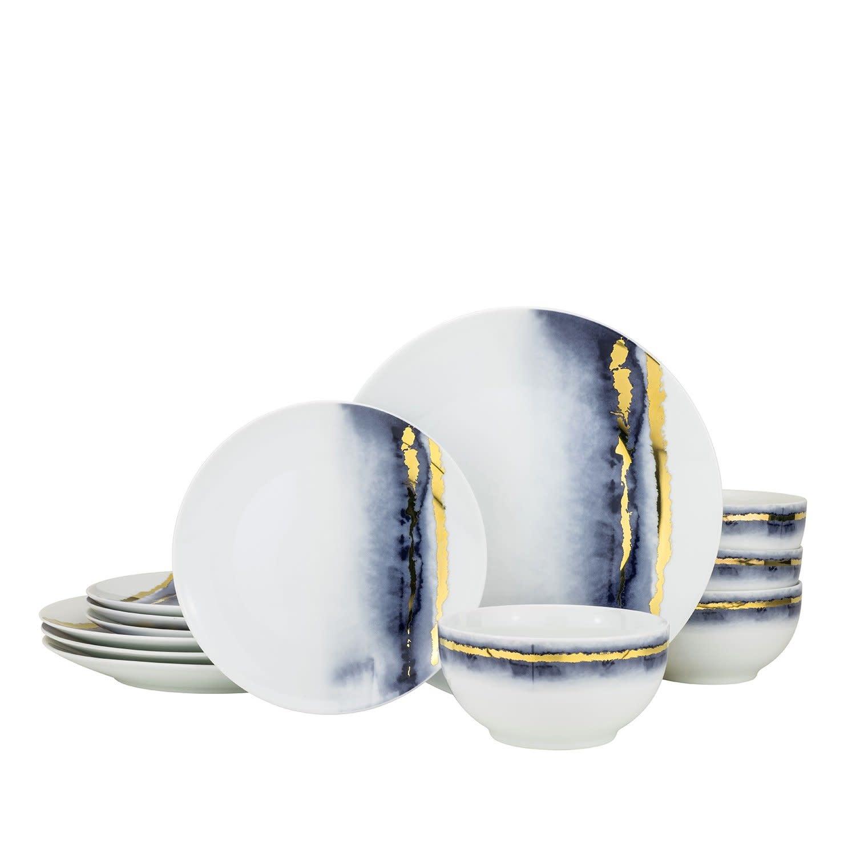 Lazuli Blue 12 pc dinnerware set