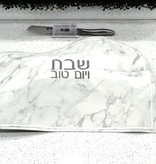 Waterdale Collection Marble Leather Challah Cover w Silver