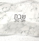 Marble Leather Challah Cover w Silver