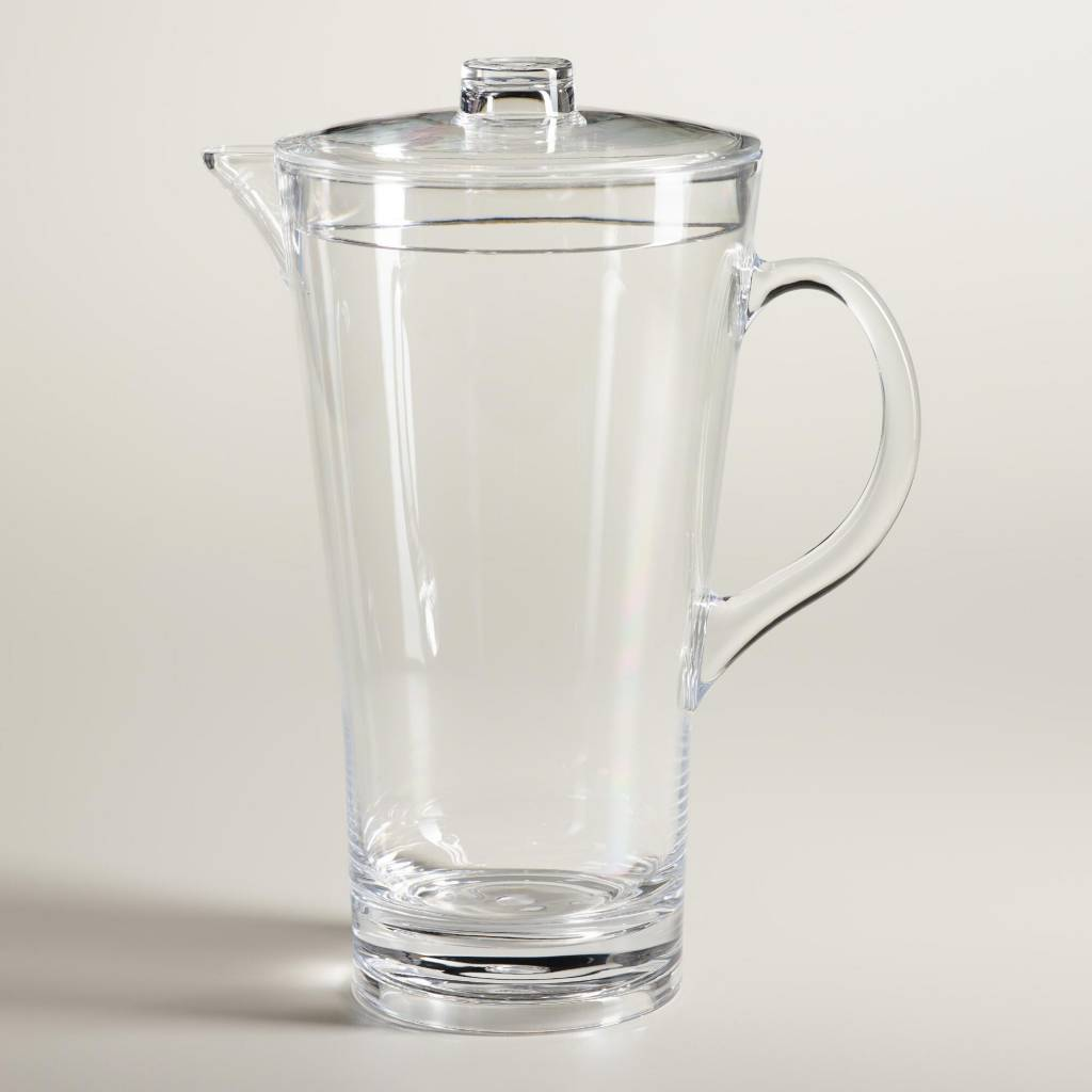 Acrylic Pitcher with Cover