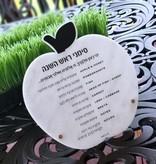 Marble tabletop simanim plaque