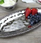 Ceramic Beaded Small Oval Serving Platter
