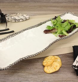 White/Silver Rectangular Platter