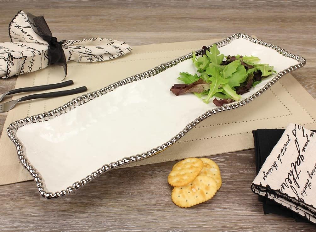 White/Silver Rectangular Platter