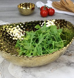 Ceramic Large Gold Oval Bowl