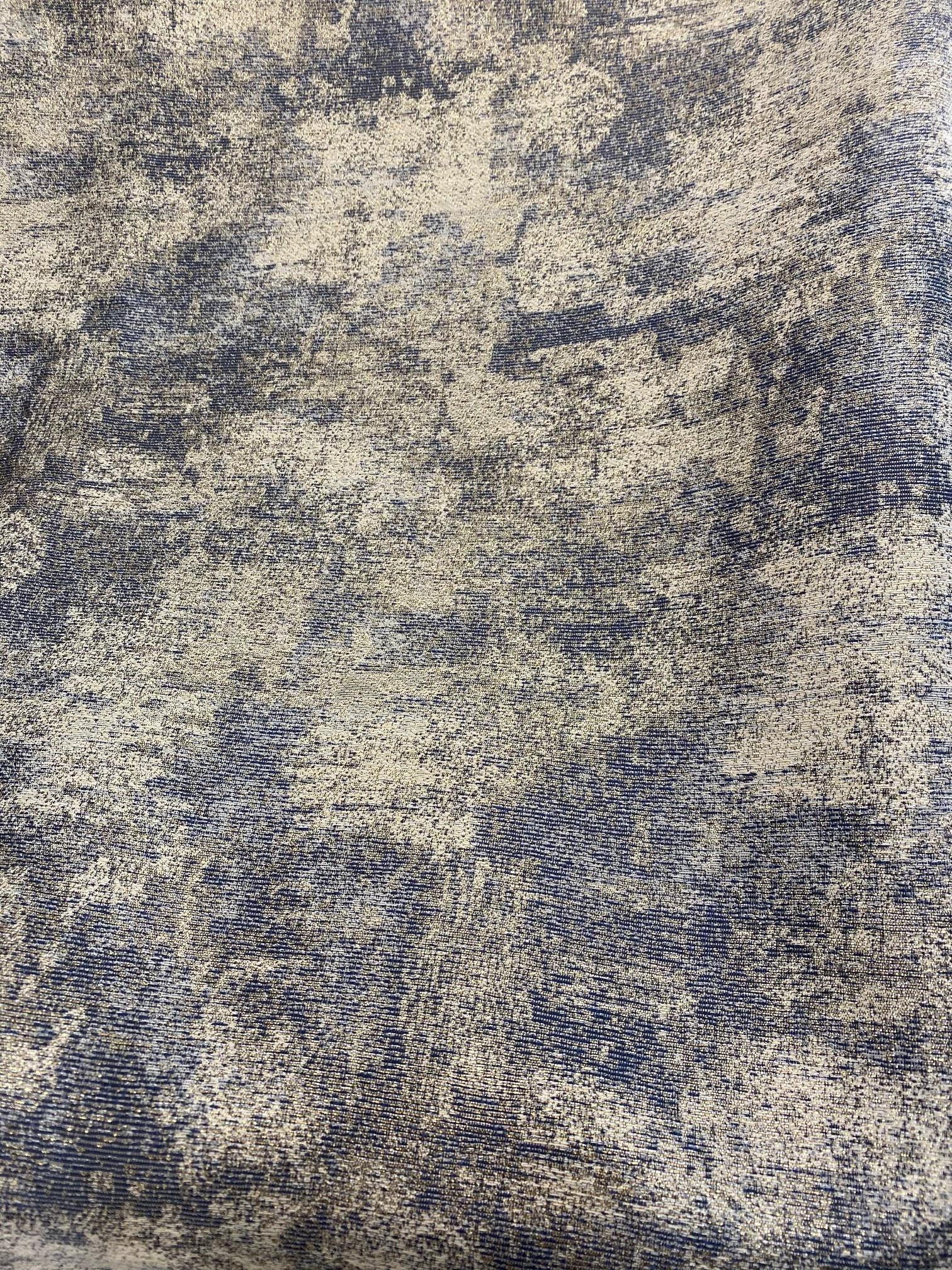 TC1302- 70 x 144 Jacquard Ivory/Blue/Gold Tablecloth