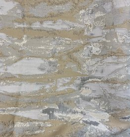 TC1304- 70 x 120 Jacquard Ivory/Grey/Gold Tablecloth