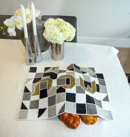 Glass beaded Geometric bold puzzle challah cover