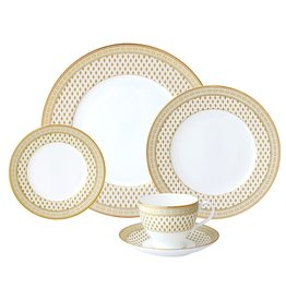 Nikko Granada Gold 5 pc Dinnerware Set