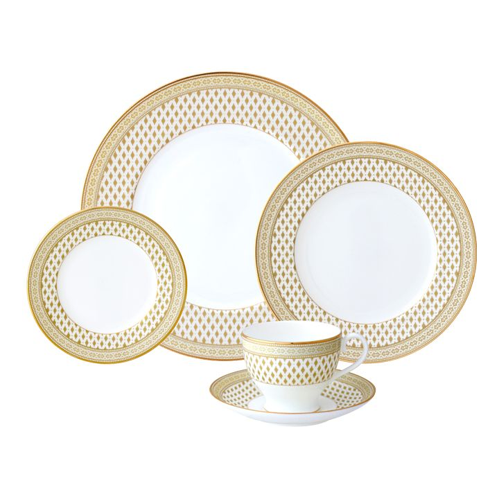 Nikko Granada Gold 5 pc Dinnerware Set