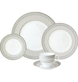 Nikko Granada silver 5 pc Dinnerware Set