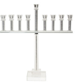 Crystal Menorah with Stones 20""