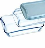 Simax Rectangular glass w/ plastic lid and glass lid