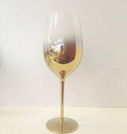 Gold White Wine Glass 17.5 oz set of 4
