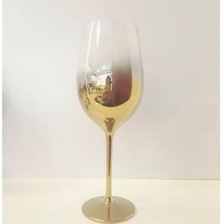 Gold White Wine Glass 17.5 oz set of 4