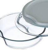 Simax Round Casserole w/ glass and plastic lid
