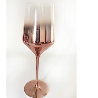 Ombre Copper Plating Red Wine Glass 15 Oz S/4