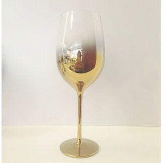 Gold Red Wine Glass 21 oz set of 4