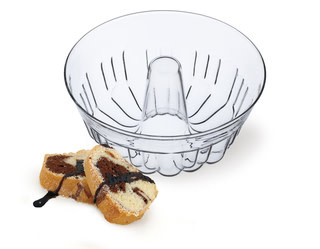 "Simax Glass Bundt baking dish 9.75"" /2.1 Quart"