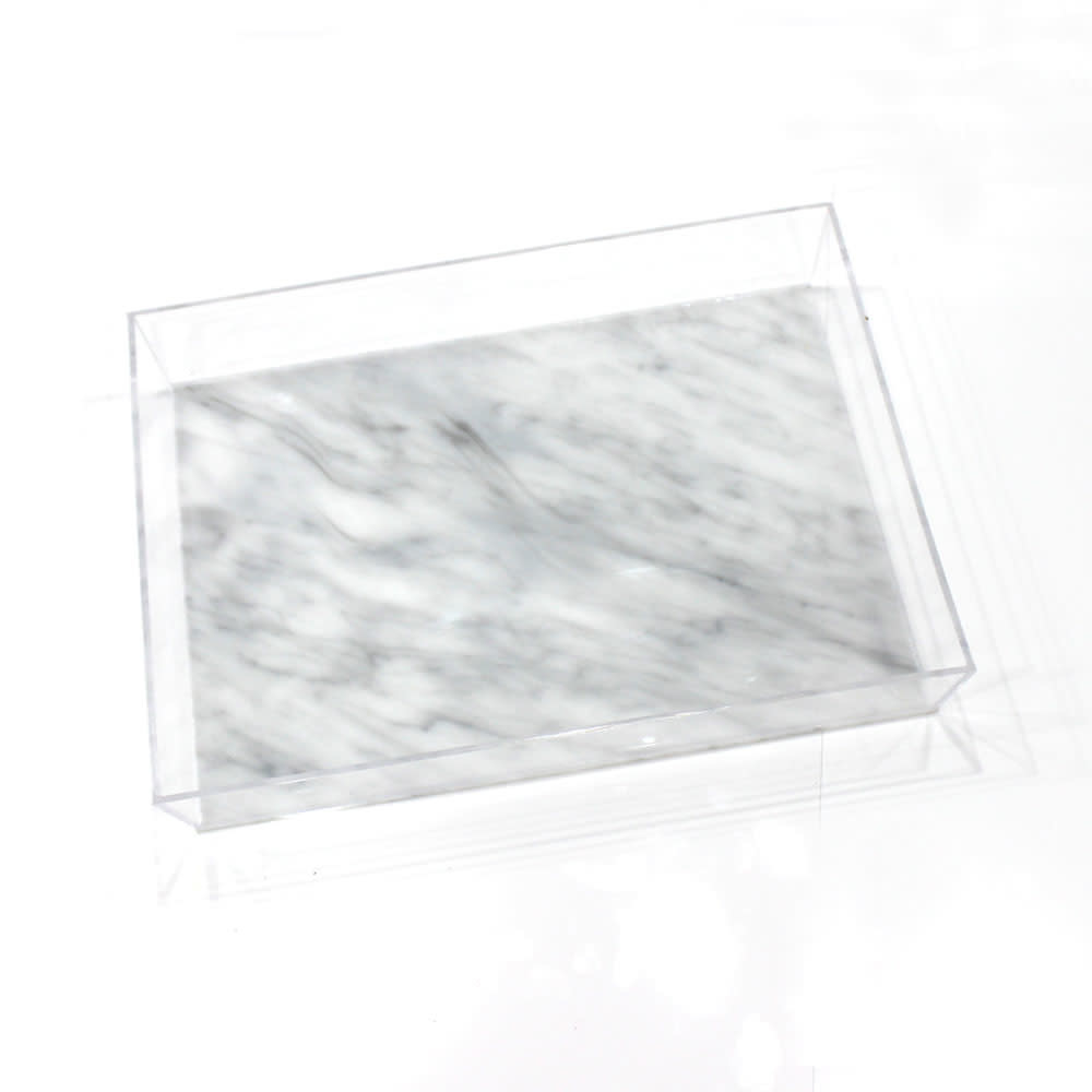 Lucite Marble Tray 11x14